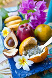 Fresh exotic fruits Royalty Free Stock Images
