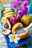 Fresh exotic fruits Royalty Free Stock Images