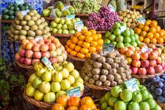 Fresh exotic fruits Stock Photos