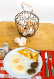 Fresh Farm Egg Breakfast Royalty Free Stock Photos