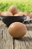 Fresh farm eggs Royalty Free Stock Image