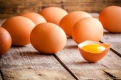 Fresh Farm Eggs Stock Photography