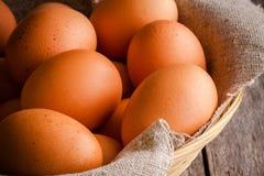 Fresh farm eggs Royalty Free Stock Images