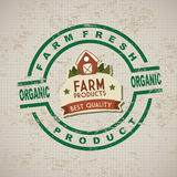 Fresh farm label Stock Images