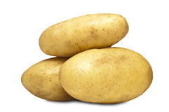 Fresh Farm Potatoes Stock Photo