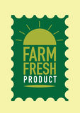Fresh from the farm product stamp Stock Photography