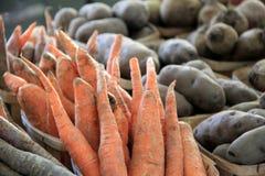 Fresh farm vegetables at the market Stock Photos