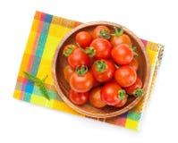 Fresh farmers cherry tomatoes Stock Photos