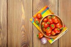 Fresh farmers cherry tomatoes Royalty Free Stock Photos