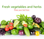 Fresh farmers garden vegetables and herbs Stock Image