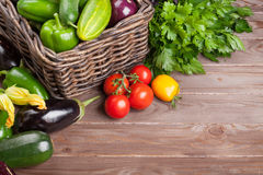 Fresh farmers garden vegetables and herbs Royalty Free Stock Photography