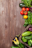 Fresh farmers garden vegetables Royalty Free Stock Image
