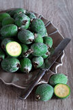 Fresh feijoa (pineapple guava) Royalty Free Stock Photography