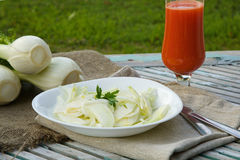 Fresh fennel salad with lemon juice, olive oil and parsley Royalty Free Stock Photo