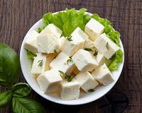 Fresh feta cheese Stock Photography