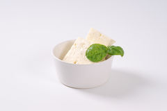 Fresh feta cheese Stock Images