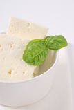 Fresh feta cheese Royalty Free Stock Photography