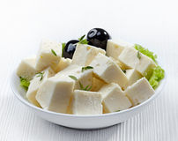 Fresh feta cheese Royalty Free Stock Images