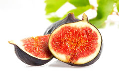 Fresh fig. On a white background Royalty Free Stock Images