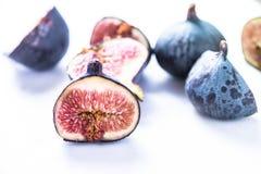 Fresh fig cut in half Royalty Free Stock Photo