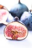 Fresh fig cut in half Stock Photography