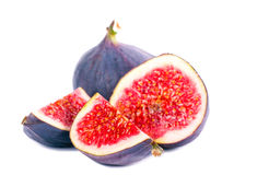 Fresh fig fruit cut Royalty Free Stock Images