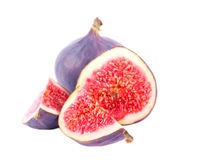 Fresh fig fruit cut Stock Images