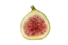 Fresh fig, isolated. Fresh fig on a white background Royalty Free Stock Photos