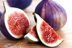 Fresh fig. Ripe fresh fig on wooden Stock Photos