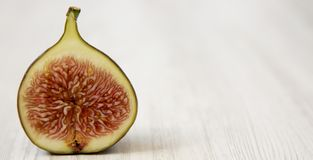 Fresh fig, side view. Close-up. Copy space royalty free stock photography