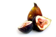 Fresh figs. On white background Royalty Free Stock Photography