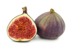 Fresh figs. Isolated on white background Royalty Free Stock Images
