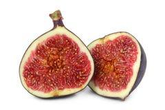 Fresh figs. Isolated on white background Stock Photos