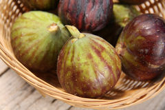 Fresh figs. In a basket Stock Photo