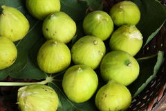 Fresh figs. In a basket Royalty Free Stock Photography