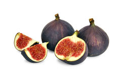 Fresh Figs. Fig fresh fruit closeup isolated on white background Stock Photography