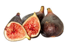 Fresh Figs. Juicy fresh figs. Isolated on white Royalty Free Stock Photos
