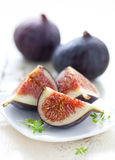 Fresh figs. Fresh sliced figs on a plate Stock Image