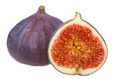 Fresh figs. Isolated on white background Stock Photography
