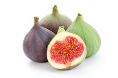 Fresh figs. Close-ups of fresh figs isolated on white - food and drink Stock Images