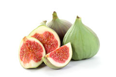 Fresh figs. Close-ups of fresh figs isolated on white - food and drink Stock Photos