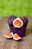 Fresh figs in a bowl Stock Photos