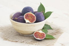 Fresh figs. In a bowl Royalty Free Stock Image