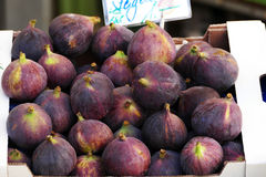 Fresh figs in a box at a market Royalty Free Stock Photo