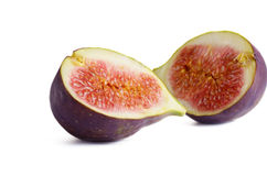 Fresh figs cut by half Royalty Free Stock Image