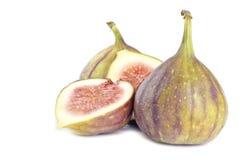 Fresh Figs Isolated on White Royalty Free Stock Photos
