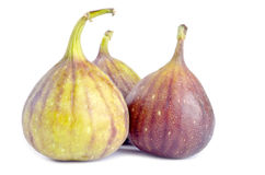 Fresh Figs Isolated on White Royalty Free Stock Photos