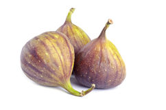 Fresh Figs Isolated on White Royalty Free Stock Photography