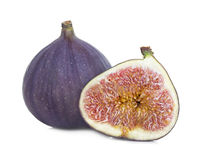 Fresh figs isolated on white Royalty Free Stock Photo