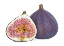 Fresh figs isolated on white Royalty Free Stock Image
